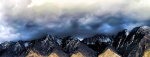 Stormy Mountain Panorama by TPextonPhotography