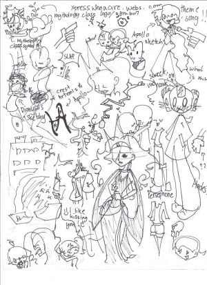 Mythology Class sketch dump