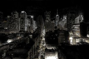 New York City at Night by WikipedianMarlith