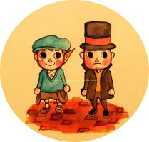 Professor Layton and AC by Pizzicatoh