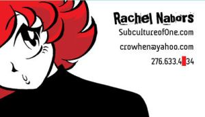 Horizontal Business Card by rachelthegreat