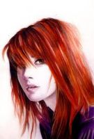 A Drawing of Hayley Williams by TaylorThePandaBear16