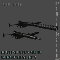 British STEN Mk.II SMG Pack by DamianHandy