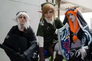 Link, Midna, And Dark Link by EmilyScissorhands