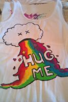 puking rainbow HUG ME!! by Reneekeuh