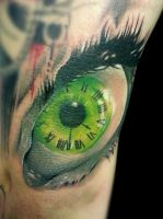 eye clock by jackburginart