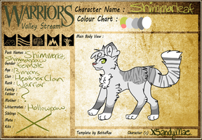 :WVS: Shimmerleaf (WIP, ADDING IN WARRIOR INFO) by Maekii