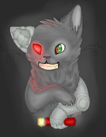 Cyborg Ghost Cats FTW by MarbleMyst