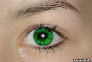 Green eyes by Gooiool