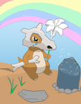 Cubone visits his mother :( by K3ryx