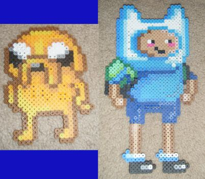 Adventure Time Perler Beads by DharmaNow
