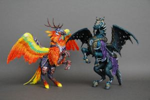 Invincible and Flameward Hippogryph by ColibriWorkshop