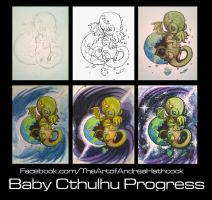 Baby Cthulhu Progress by vampireheartagram27