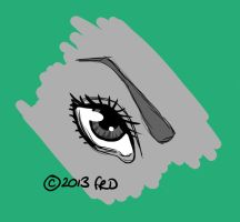 Comic Eye by TiedyeWolf