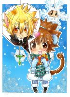 Little Tsuna's gift by Black-Lulu