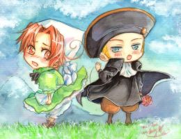 Hetalia: HRE and Chibitalia by Lancha
