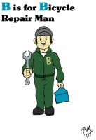 B is for Bicycle Repair Man by turkeycreaux