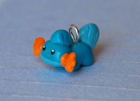 Tiny Mudkip Charm by LeiliaK