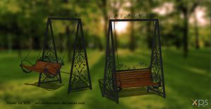 XPS Model - Swing Chair by ladystarkennedy