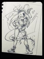Pen Sketch: Bealix by DroseAttack