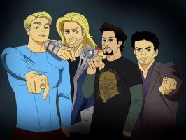 Avenger boys by LadyDeadPooly