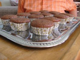 Banana-chocolate muffins 01 by Sophie-shoots