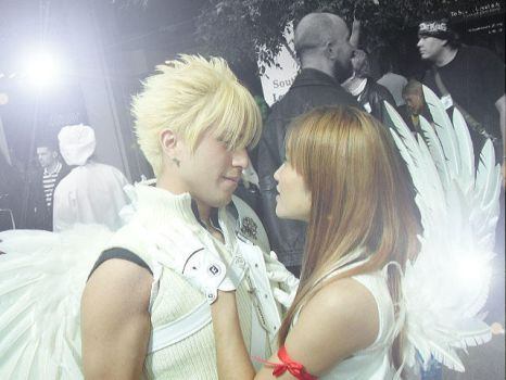 Cloud and Tifa cosplay by lyorr