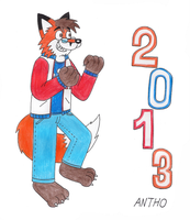 Antho in the year 2013 by AnthoFur