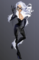 Black Cat Quickie WIP by Asher-Bee