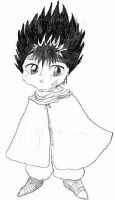 Chibi Hiei in White Cape by silverbamboo