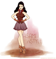 Legend of Korra: Asami in Style by bloody-savage