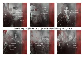 Icons # The Witcher 3 by golden-nostalgia