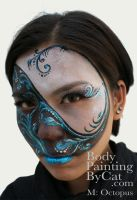 Ying Yang Face paint 2nd by Bodypaintingbycatdot