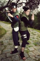Asuma and Shikamaru by Shiraku-sanji