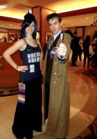 Tardis and the Doctor by meggafangirl
