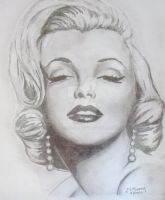 marilyn monroe by h1artyness
