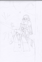 Lily Asuka learning in Tree by Roxasdeath
