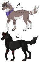 Dog/Wolves Adopts CLOSED by FourPawsADOPTS