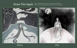 Draw This Again Contest - The Lady of the Lake by floweringgarlic