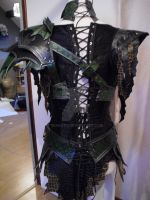 Druchii female leather armor + corset by Deakath