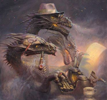 Dragon Writer by 25kartinok