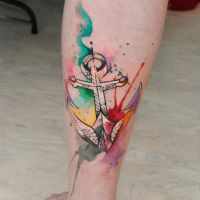 watercolor anchor by dopeindulgence