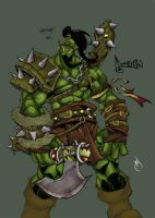.WarCraft Orc. by wardevil
