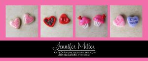 Valentines Earrings by ArteDiAmore