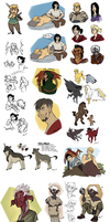 a really big fantasy doodle pile!!! by bPAVLICA