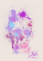 spray paint skull by cagris