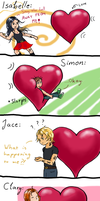 Falling in Love: TMI Characters' Reactions by Stranger-Z