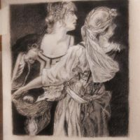 Study: Judith and her Maidservant by clockwork-madness