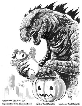 INKtober 2015 and Drawlloween Day 22. Candy by AxelMedellin