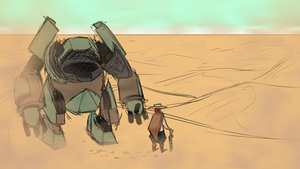 Daily Doodle #177 - Desert by Mr-Sage